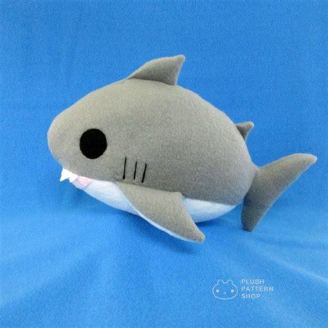 Shark Plushie plush shark pdf shark sewing pattern great white shark