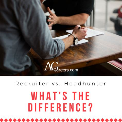 how are headhunters different from recruiters agcareers