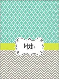 maths book cover template 7 best images of black and white math binder cover