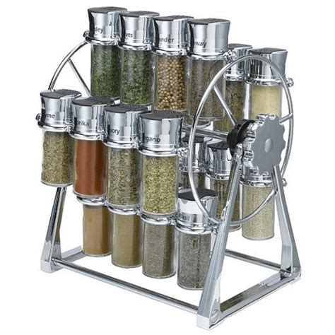 Olde Thompson Spice Rack Ferris Wheel olde thompson 25 645c 20 jar ferris wheel spice rack contains 20 spices chrome rack and lids