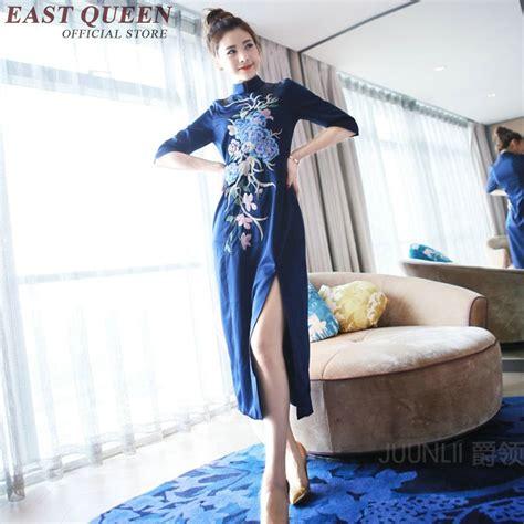 Costume China Kostum Imlek Cheongsam Merah Hitam 1 gaun biru cina promotion shop for promotional gaun biru cina on aliexpress alibaba