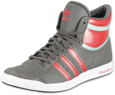 Adidas Top Ten Hi Sleek 1418 by Adidas Top Ten Hi Sleek W Schoenen Iron Pop Wht