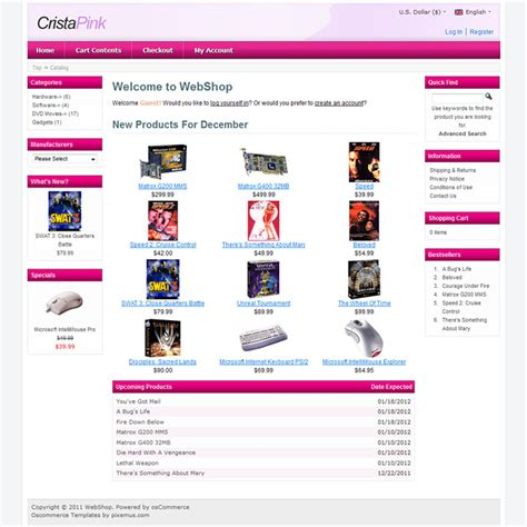 os commerce templates crista free oscommerce template