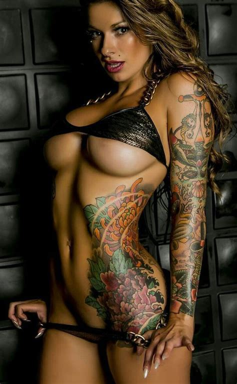 tattoo on hot body exciting underboob inked athletic dream body of sexy