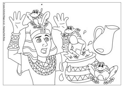 plague of frogs coloring page moses pharaoh coloring pages