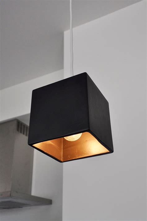 Cube Pendant Light Cube Pendant Light Fixture In Charcoal By Clarksallpurpose On Etsy