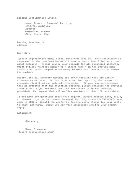 Confirmation Letter Letter Format 187 Bank Confirmation Letter Format Cover Letter And Resume Sles