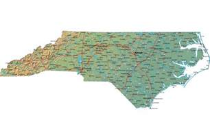 carolina state map detailed carolina map nc terrain map