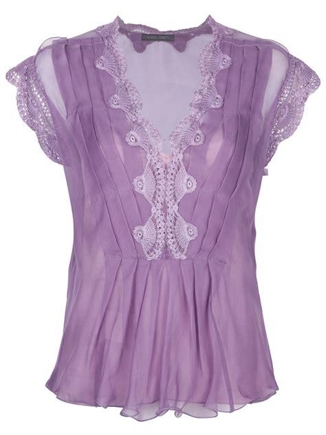 Purple Top 1 alberta ferretti lace embroidered top in purple lyst