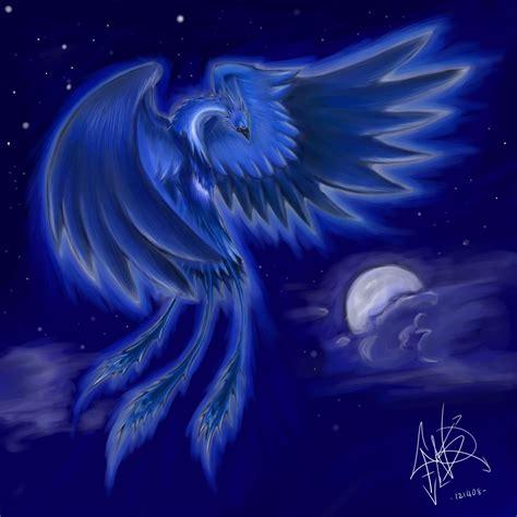 wallpaper blue phoenix blue phoenix by lucarah on deviantart