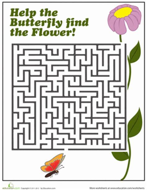 printable spring maze spring maze worksheet education com