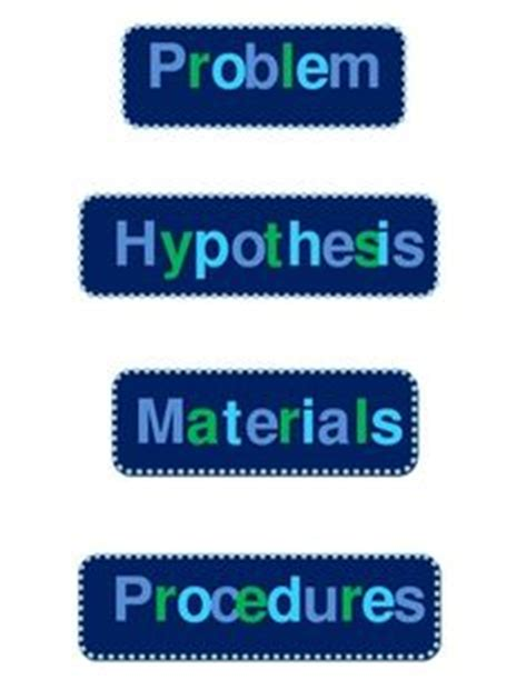 Science Project Board Labels