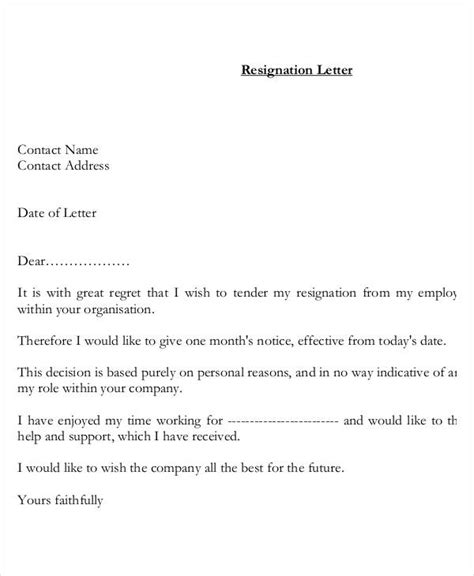Resignation Letter Personal Health Reasons Resignation Letter With Reason Template 7 Free Word Pdf Format Free Premium