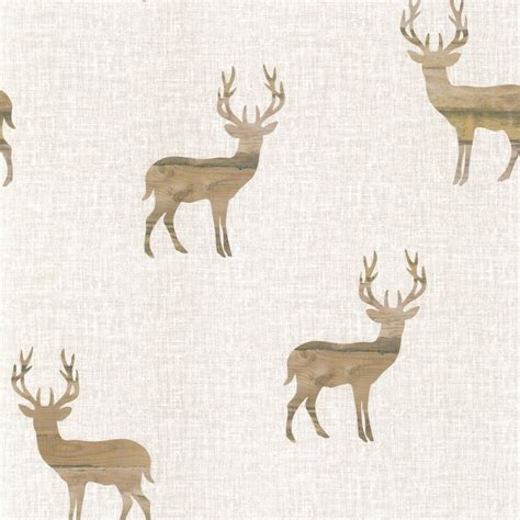 stag wallpaper grey buy wooden stag wallpaper at i love wallpaper