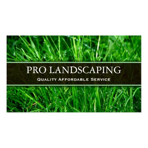 business card template landscape gardener landscaping business card zazzle