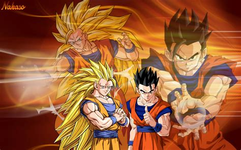 dragon ball z ultimate wallpaper dbz goku ssj3 and ultimate gohan by nakaso on deviantart