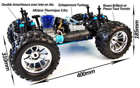 hsp nitro truck hsp bug crusher truck rc thermique 1 10 rtr