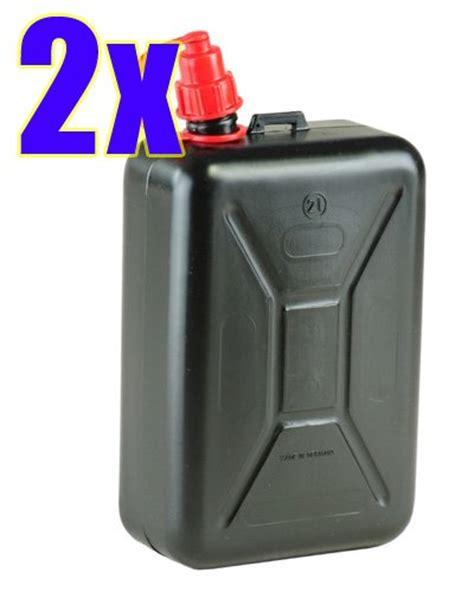 Benzinkanister 2 Liter Motorrad by 2x Kraftstoff Kanister 2 Liter Schwarz 2er Set Motorrad