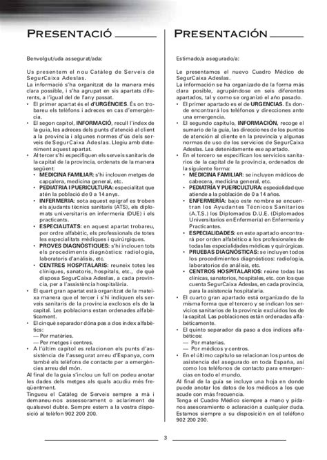 adeslas cuadro medico barcelona gu 237 a m 233 dica adeslas barcelona 2013