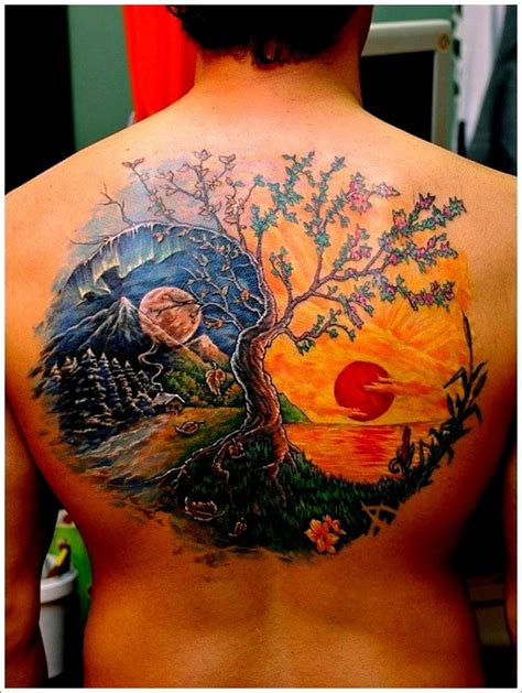 sun moon yin yang tattoo designs 40 amazing yin yang designs