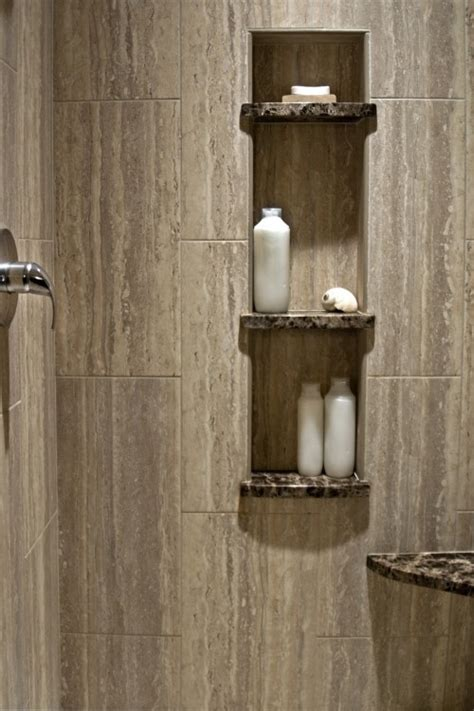Tile Shower Shelf Ideas by Inspiration Niche With Granite Shelves Use The Original