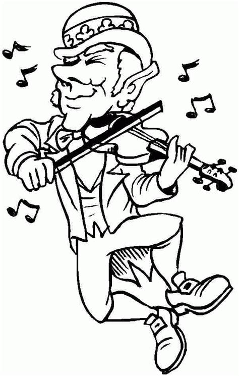 leprechaun coloring pages pdf saint patrick leprechaun coloring pages printable free for