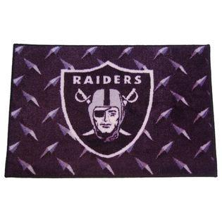 raiders rug nfl oakland raiders rug non slip backing fitness sports fan shop team apparel s