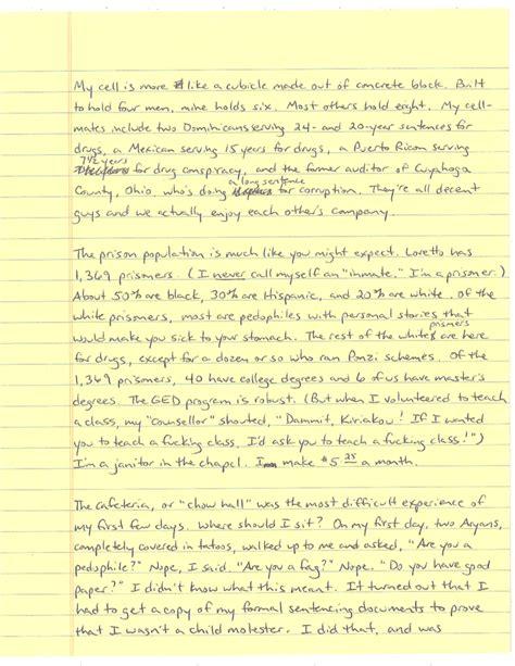 Response Letter To Whistleblower cia whistleblower pens letter from prison