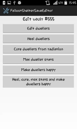 Tools - [WIP] Fallout Shelter save editor app for Android