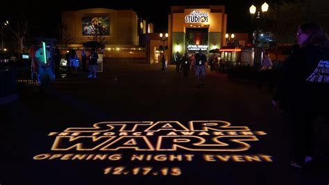 opening night fan event star wars look back at special event for star wars the force awakens