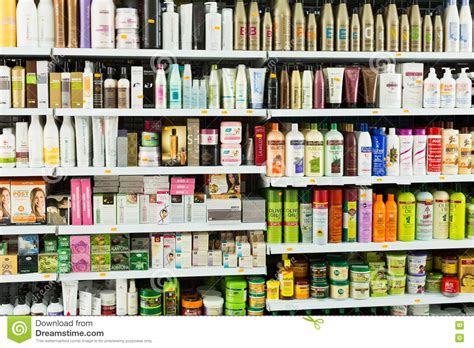 Hair Care Store In hair care products editorial editorial photography image