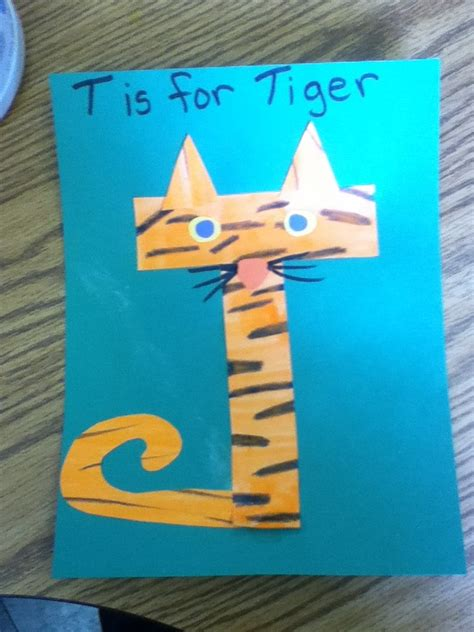 t is for tiger pre k letter t craft pinning it cause i