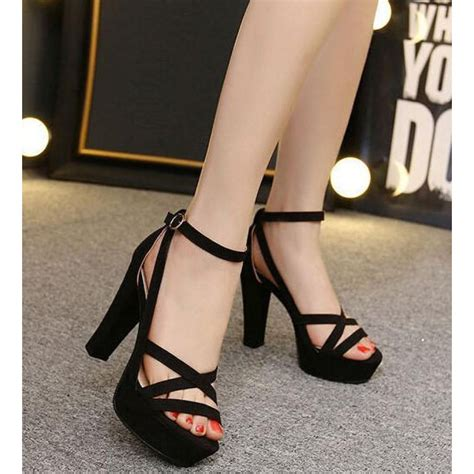 strappy black sandals high heels black platform high heel strappy sandals