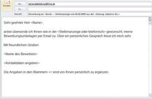 E Mail Bewerbung Anschreiben In Den Anhang Bewerbung Mit Email Oder Formular Bewerben