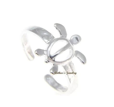 Sterling Silver Turtle Honu Ring solid 925 sterling silver hawaiian honu turtle toe ring