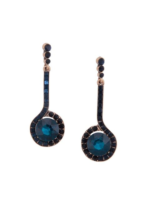 blue drop earrings happiness boutique