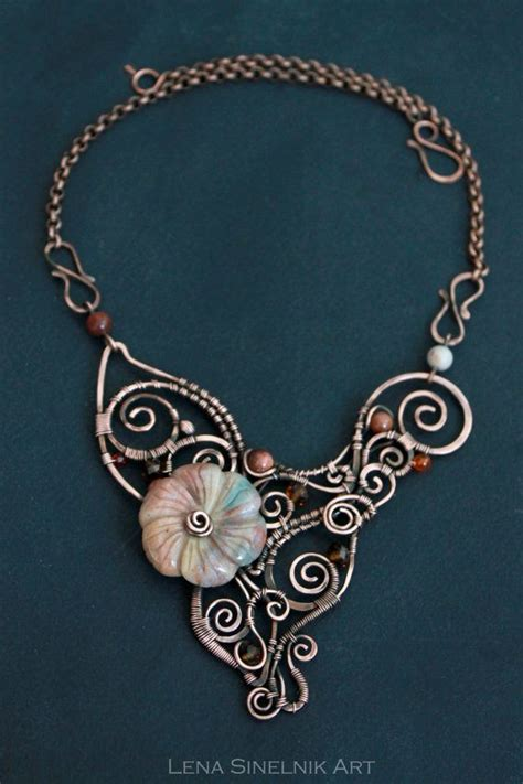 Handmade Aluminum Wire Jewelry - wire wrap necklace wire wrapped jewelry handmade