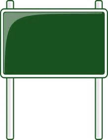 road sign green blanks road signs highway signs road