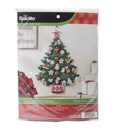 advent calendar kit bucilla nordic tree advent calendar felt applique kit jo