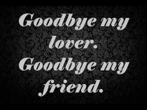My Lover 1 blunt goodbye my lover lyrics