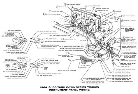 2005 ford f750 wiring diagram wiring diagram for free instrument panel wiring diagram of 1964 ford f100 f750 truck series circuit wiring diagrams