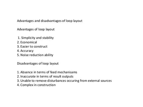 warehouse layout advantages and disadvantages layout design
