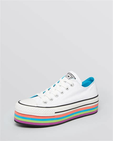 converse platform sneakers lyst converse lace up platform sneakers all