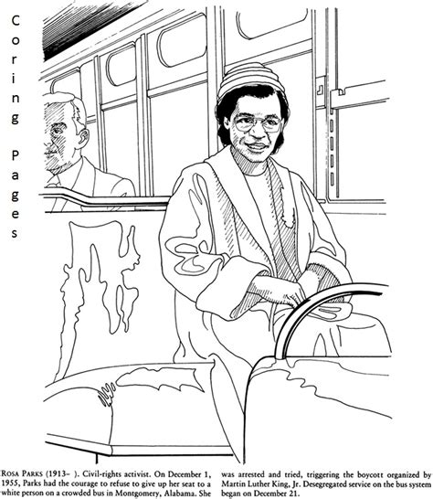 black history month rosa parks coloring page agents of change inspirational women coloring book