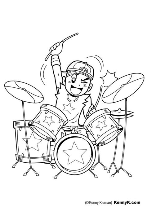 coloring pages drummer boy dibujo para colorear bater 237 a img 20079