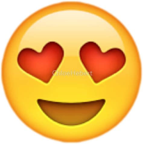 emoji love quot heart eyes emoji quot stickers by chloe hebert redbubble