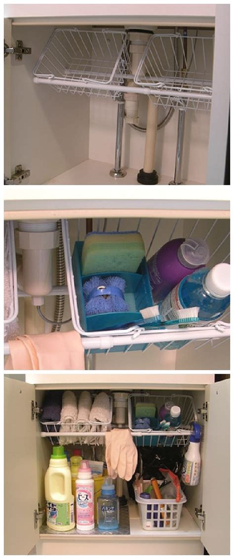 small tension rods for cabinets 25 best ideas about organize under sink on