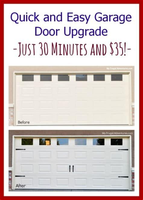 How To Update Garage Door by Easy Diy Garage Door Upgrade Frugal Adventures