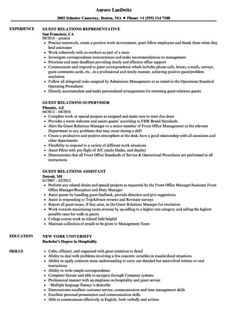 Toll Booth Collector Sle Resume by Guest Relation Officer Sle Resume Sles Of Experience Certificate Toll Booth Collector