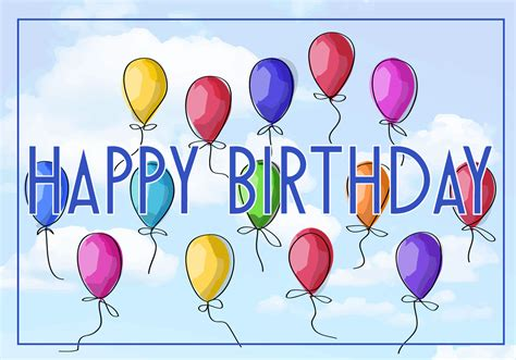Free Birthday Cards Free Vector Illustration Of A Happy Birthday Greeting Card